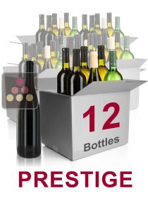 12 bottles of wine -Selection Prestige : white wines, red wines and Champagne Sélection Vin