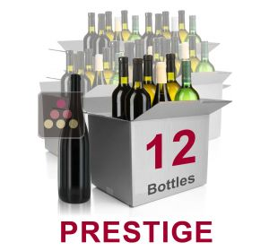 12 bottles of wine - Mathieu Vial Selection Prestige : white wines, red wines and Champagne Sélection Vin