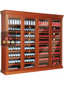 Dual temperature wine cabinet for storage and/or service  ELLEMME