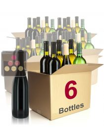 6 bottles of wine : white and red wines Sélection Vin