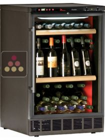 Built-in single temperature wine cabinet for wine storage or service CALICE
