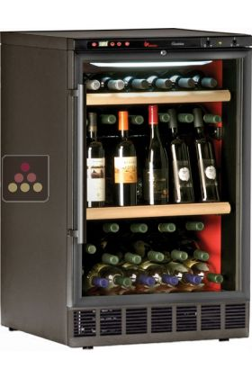 Built-in single temperature wine cabinet for wine storage or service