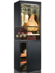 Combination of 2 single temperature delicatessen cabinets - Left Hinged CALICE