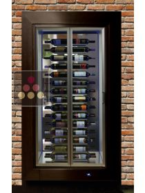 Built-in crossing multipurpose wine cabinet for service or storage CALICE