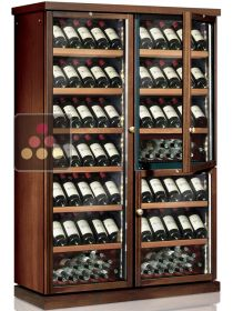 Combined 3 Single temperature wine service or storage cabinets CALICE