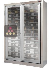 Customised built-in crossing display case for wine preservation or service ELLEMME