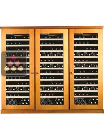 Combined 3 Single temperature wine service & storage cabinets CALICE