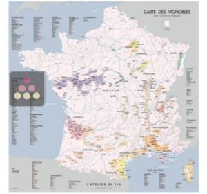France vineyards map