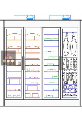 Refrigerated display cabinet for delicatessen/cheese