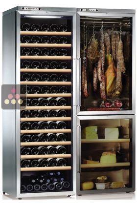 combination of a multi temperature wine cabinet a cheese. Black Bedroom Furniture Sets. Home Design Ideas