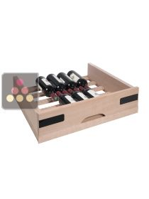 Beech wood sliding drawer for wine cabinets in the Prestige range La SOMMELIERE