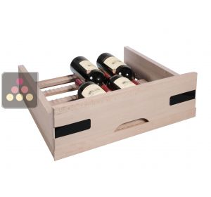 Beech wood sliding drawer for Magnum for wine cabinets in the Prestige range La SOMMELIERE