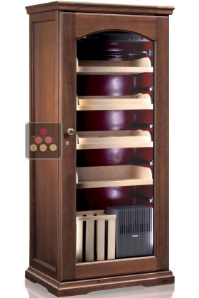 Refrigerated Cigar Humidor With Electronic Humidifier Calice Wine Cabinet