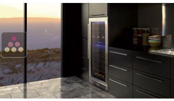 Dual temperature wine service and/or storage cabinet - Can be fitted