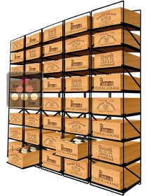 The only solution for storing 40 cases of wine and 480 bottles MODULORACK