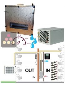 Air conditioner for wine cellar up to 2200W with ducted evaporator and humidifier - Vertical ducting FRIAX