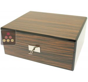 Cigar humidor with ebony finishing Ma Cave à Cigares