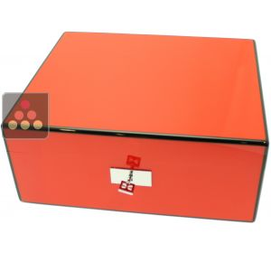 Cigar humidor with red finishing Ma Cave à Cigares