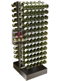 Freestanding double sided metal support for 144 bottles VISIORACK
