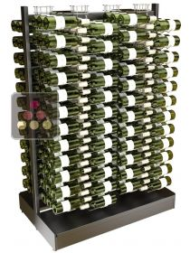 Freestanding double sided metal support for 288 bottles VISIORACK