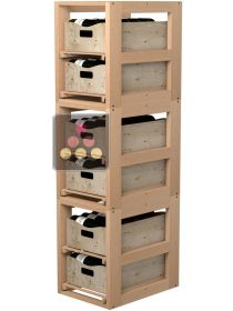 Set of 3 Wooden Storage unit for 6 wooden boxes VISIORACK