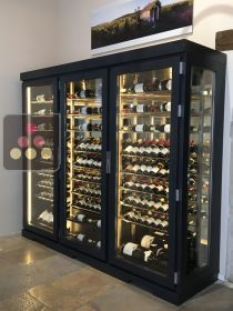 Single temperature air conditioned refrigerated display cabinet - right side Ma Cave à Vin
