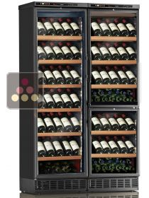 Built-in combination of 3 single-temperature wine cabinets for service or storage CALICE