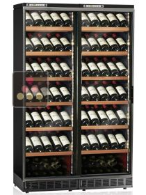 Built-in combined 2 Single temperature wine service & storage cabinets CALICE
