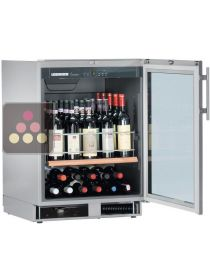 Wine cabinet for the storage or service of wine with 2 temperatures - can be fitted