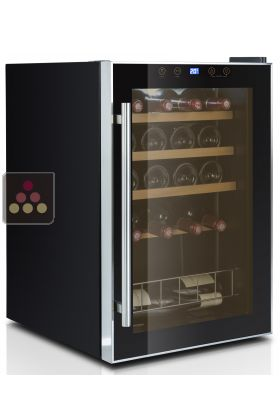 Single temperature wine service cabinet