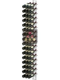 Black wall rack for 48 x 75cl bottles - Sloping bottles VISIORACK