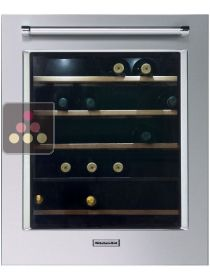 Dual temperature built in wine cabinet for storage and/or service - left-hinged KITCHENAID