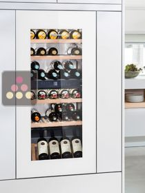 Multi-purpose wine cabinet for storage and service - can be fitted
