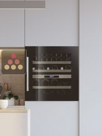 Dual temperature built in wine cabinet for service LE CHAI