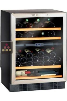 Dual temperature built in under counter wine storage and service cabinet