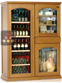 Gourmet combination : Dual temperature wine cabinet, cheese cabinet & cold meat cabinet CALICE