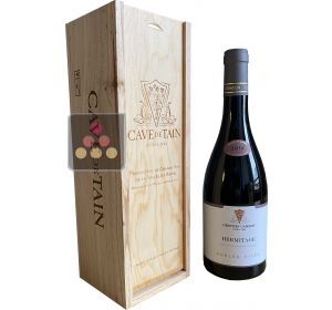 Bottle of Red Hermitage 2014 - Cave de Tain - Wooden box Sélection Vin