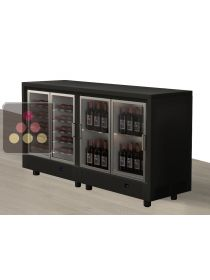 Combination of two modular island unit multipurpose wine cabinets CALICE