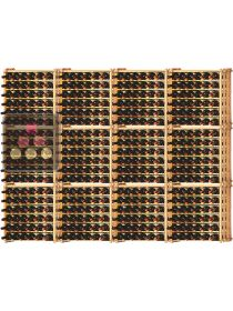 Set of 12 modular beachwood racks for 456 bottles Ma Cave à Vin