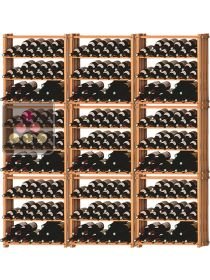 Set of 9 modular beachwood racks for 315 bottles Ma Cave à Vin
