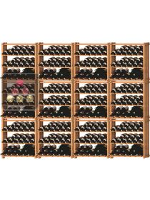 Set of 12 modular beachwood racks for 420 bottles Ma Cave à Vin