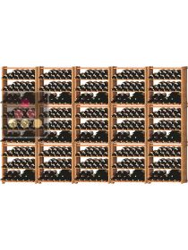Set of 15 modular beachwood racks for 525 bottles Ma Cave à Vin