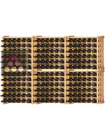 Set of 6 modular beachwood racks for 234 bottles Ma Cave à Vin
