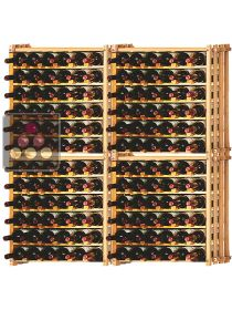 Set of 4 modular beachwood racks for 156 bottles Ma Cave à Vin