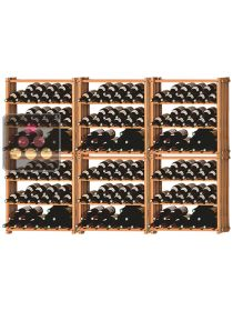Set of 6 modular beachwood racks for 261 bottles Ma Cave à Vin