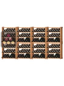 Set of 8 modular beachwood racks for 288 bottles Ma Cave à Vin