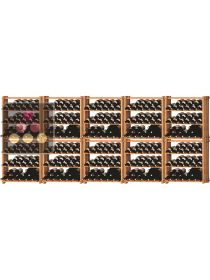 Set of 10 modular beachwood racks for 360 bottles Ma Cave à Vin