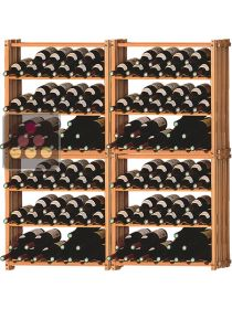 Set of 4 modular beachwood racks for 144 bottles Ma Cave à Vin