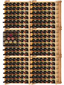 Set of 6 modular beachwood racks for 228 bottles Ma Cave à Vin