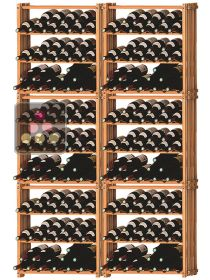 Set of 6 modular beachwood racks for 210 bottles Ma Cave à Vin